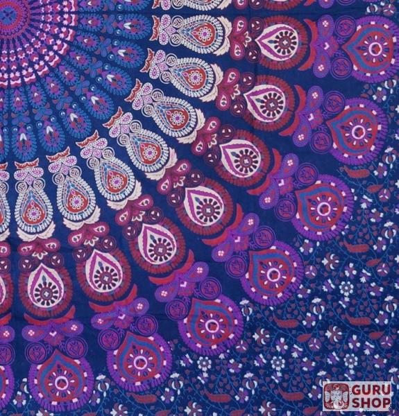 Indisches Mandala Tuch Wandtuch Tagesdecke Mandala Druck Lila