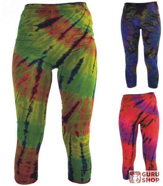 e5ea414507407 3/4 batik ladies leggings, stretch sports pants for women, yoga pants