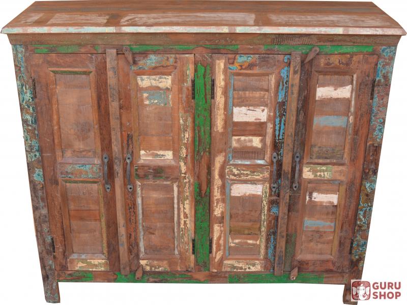 Solid Vintage Chest Of Drawers Highboard Sideboard Corridor