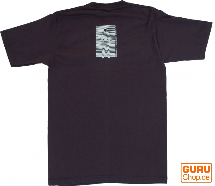 Fun T-Shirt `Barcode` - brown