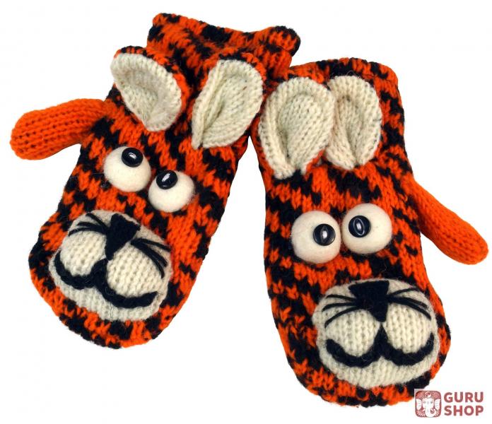 Kinderhandschuhe Tierhandschuhe Tiger