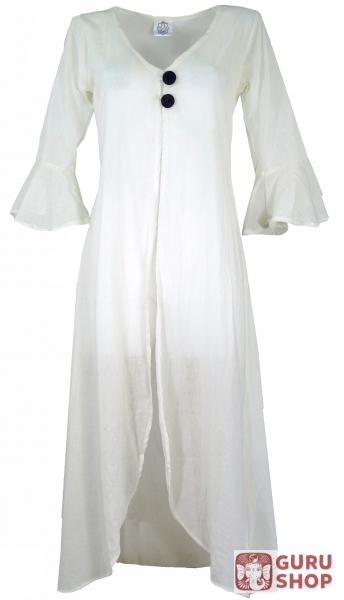 9a6fddf0524eb Long Boho caftan dress - cream white