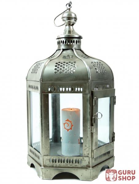 Orientalische metall glas laterne in marrokanischem design for Orientalische laterne silber
