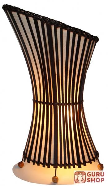 Stoff Bambuslampe Mehendina Bambus Baumwolle 45x30x18 Cm
