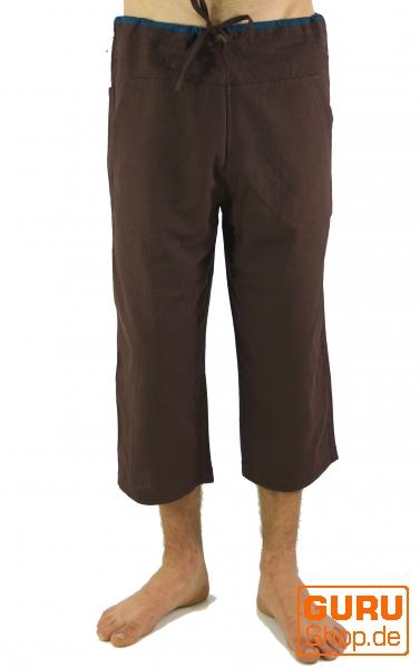 3 4 yogahose goa hose goa shorts kaffeebraun. Black Bedroom Furniture Sets. Home Design Ideas