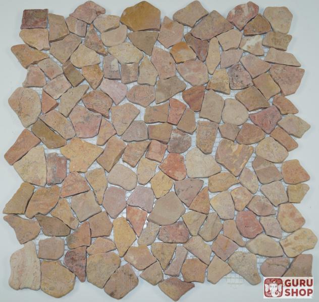 Mosaik fl chen fliesen aus marmor rot j 01 design 7 - Mosaik fliesen rot ...