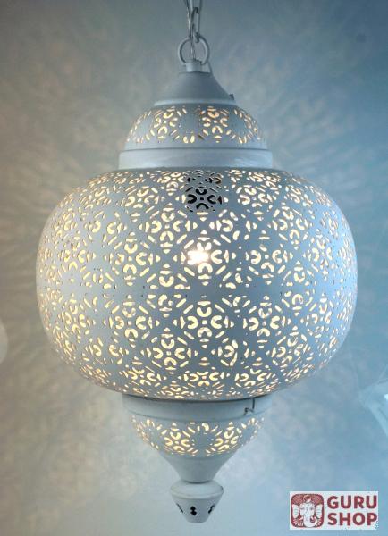 Wei e metall deckenleuchte in marrokanischem design for Orientalische deckenlampe