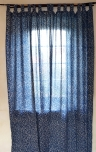 Curtain, curtain (1 pair of curtains) with loops, hand printed - ..