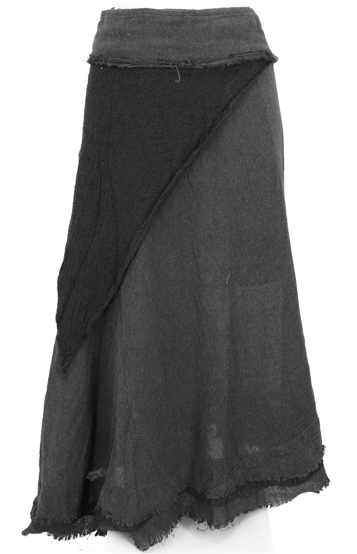 Goa wrap skirt, hippie layered skirt, boho skirt   black
