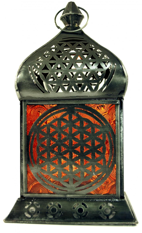 Orientalische messing glas laterne in marrokanischem for Orientalische laterne silber