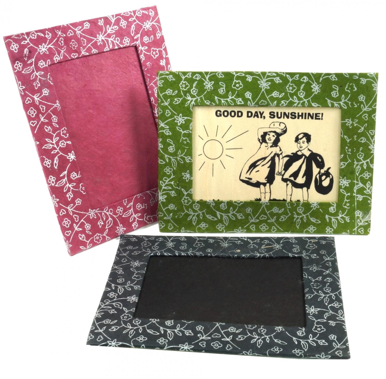 Bilderrahmen aus Lokta Papier klein - 21x16x0,5 cm