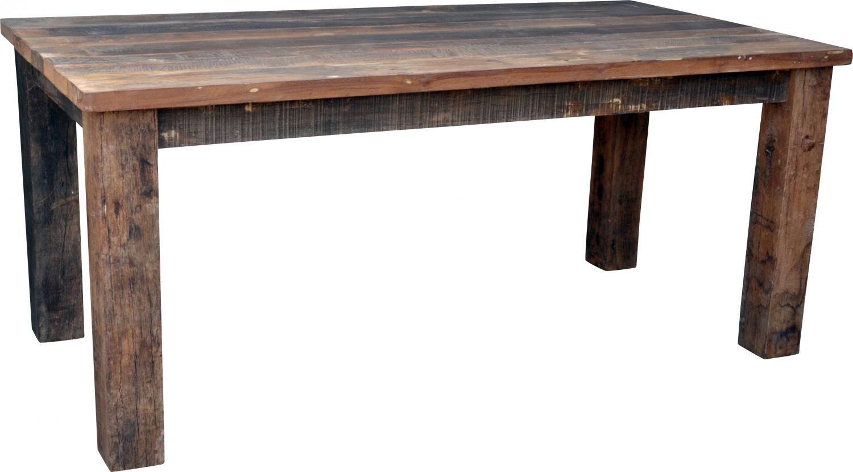 Esstisch aus rustikalen Holzbohlen (JH3-181) - 180x90x77 cm