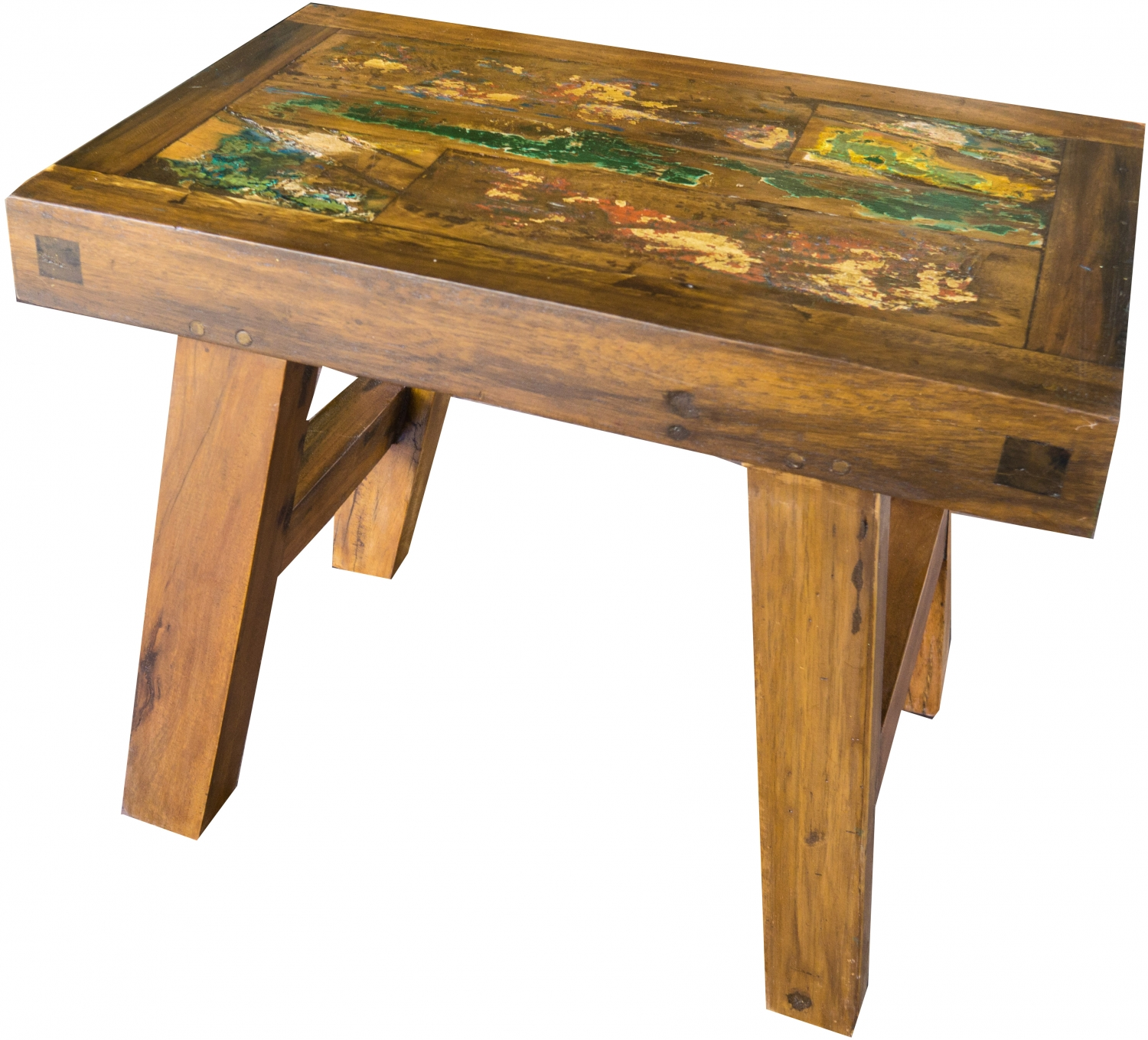 - Small Storage Table, Flower Bench, Coffee Table In Recycled Teak