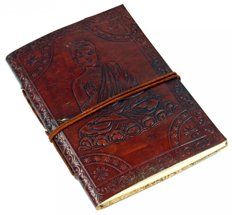 Dekostein 15*20 cm Tagebuch mit Ledereinband Lederbuch Notizbuch
