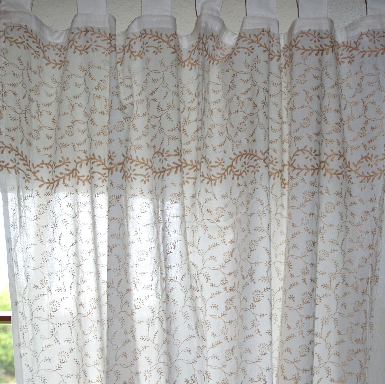 Orientalische Gardinen dünner vorhang, gardine (1 paar vorhänge, gardinen), handbedruckt