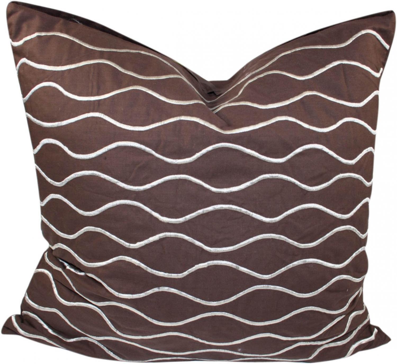 Retro Cushion Cover Cushion Cover Decorative Cushion Wave Brown 40x40 Cm