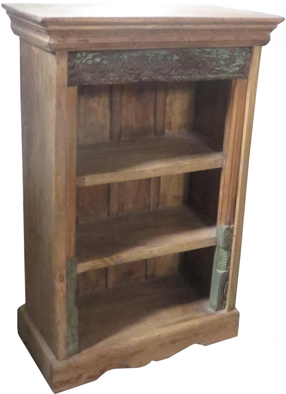 Rustikales Bücherregal, Massivholz, Kolonialstil, Indien - 97x64x33 cm