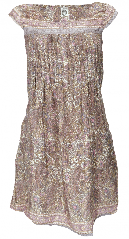 Minikleid Boho Style, schlichtes Sommerkleid - Paisley rosa