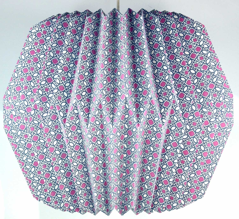 origami design papier lampenschirm modell focia 29x42x42 cm. Black Bedroom Furniture Sets. Home Design Ideas