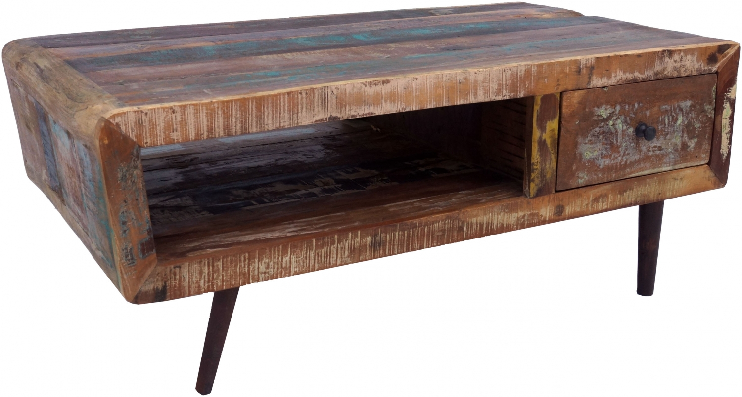 - Vintage Coffee Table, Coffee Table Made Of Recycled Wood - Model 4