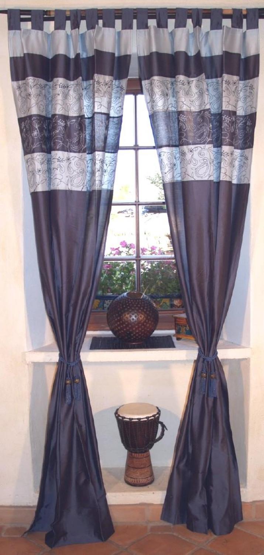 vorhang gardine 1 paar vorh nge gardinen blau. Black Bedroom Furniture Sets. Home Design Ideas
