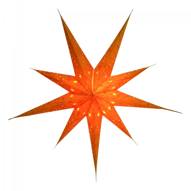 faltbarer advents leucht papierstern weihnachtsstern lyra orange 80x80x15 cm 80 cm. Black Bedroom Furniture Sets. Home Design Ideas