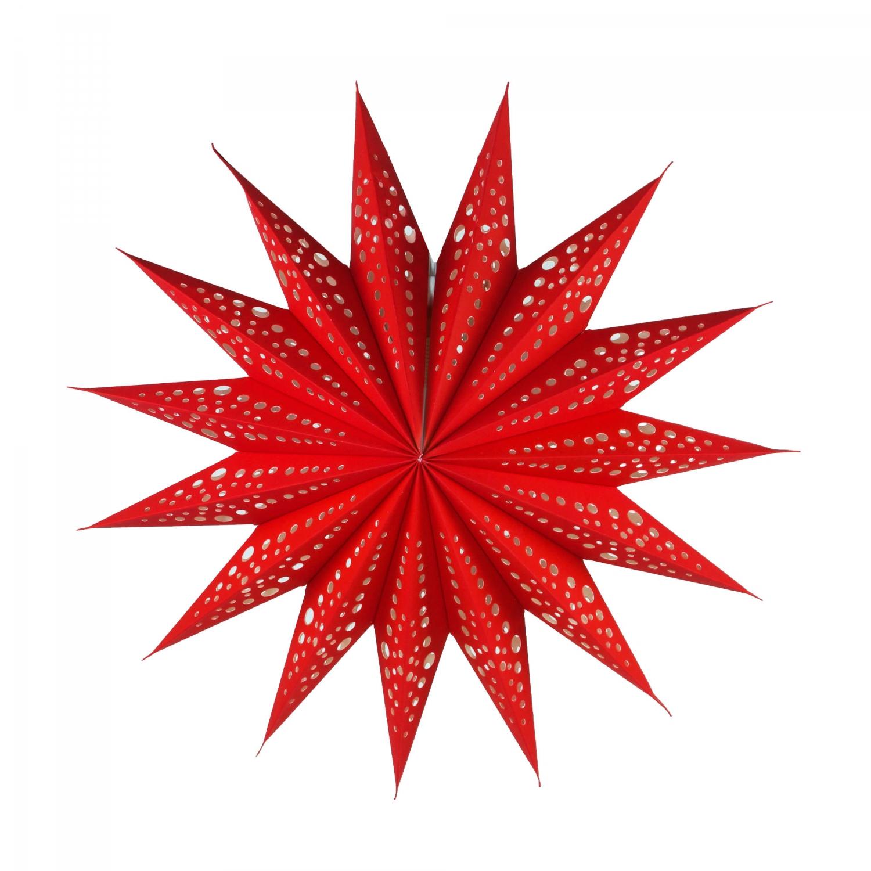 faltbarer advents leucht papierstern weihnachtsstern aristea rot 40x40x40 cm 40 cm. Black Bedroom Furniture Sets. Home Design Ideas